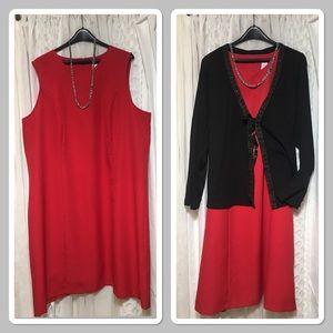 Dresses & Skirts - Red holiday sleeveless dress size 22