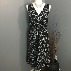 Black & White Floral Sun Dress by Avenue