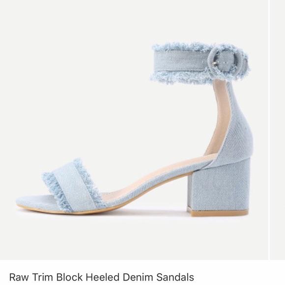 efe2aeced753 Block heeled denim sandal. M 5a27760beaf030ef4e027032