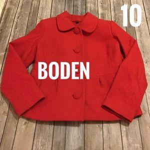 Boden red cropped Blazer