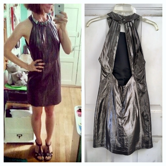 d274cebfa003 BCBG Dresses & Skirts - BCBGeneration Metallic Open Back NYE Dress