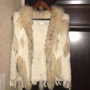 Jackets & Blazers - Cream colored fur vest
