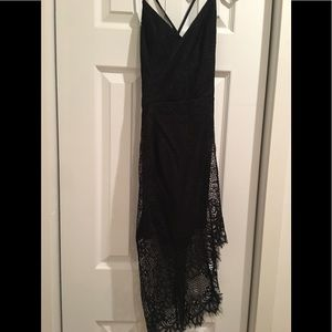 Black lace dress from Nordstrom's.