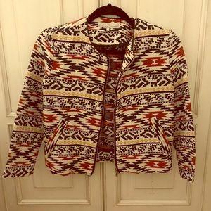 Zara Aztec printed crop jacket