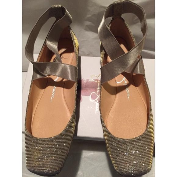 4bf078a7eb46 Jessica Simpson Shoes - Jessica Simpson Mandalaye Shimmer Ballet Flats