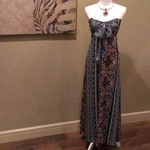 Band of Gypsies | Strapless Maxi Dress
