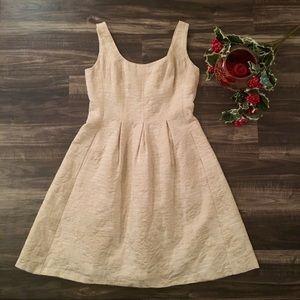 Classy! NINE WEST Floral Champagne Shimmer Dress