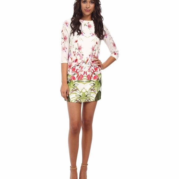 1fbe266e401 Ted Baker Oletta Mirrored Tropics Shift Dress. M_5a277d205c12f8742402884a