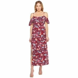 Lucky Floral Off shoulder Maxi Dress