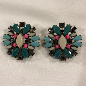 Jewelry - Post top earrings with stones
