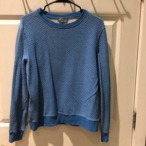 Soft blue L.L. Bean crewneck sweatshirt