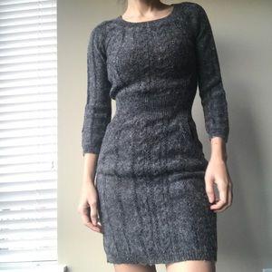 Mango Gray Long sleeve Dress