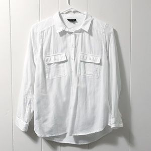 Top shop white button down shirt