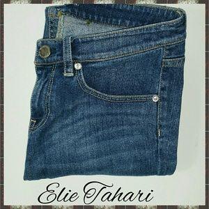 ELIE TAHARI ADENA STRAIGHT LEG JEANS, SIZE 4