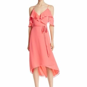 WAYF Walden Cold-Shoulder Dress Coral Size L