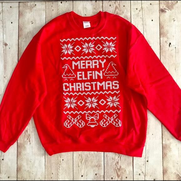 Sweaters Merry Elfin Christmas Sweatshirt Ugly Sweater Poshmark