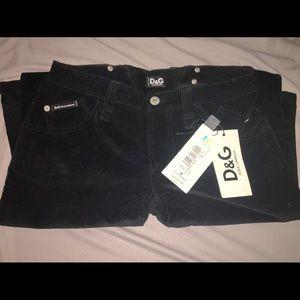 Dolce & Gabbana authentic black corduroy pants