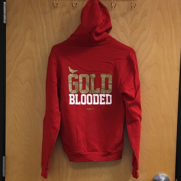 adapt Tops | Gold Blooded Zip Hoodie San Francisco 49ers | Poshmark  for cheap