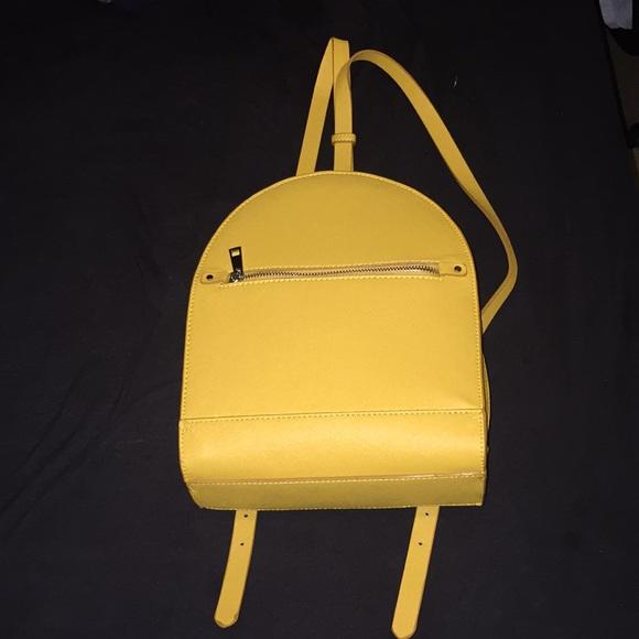 2463902bce8 Zara Bags | Yellow Zipper Backpack Bag | Poshmark