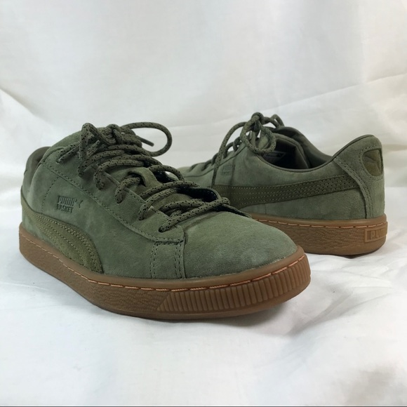 huge selection of 94ce1 bbd6c Green Puma Basket Classic Winterized Jr NWT