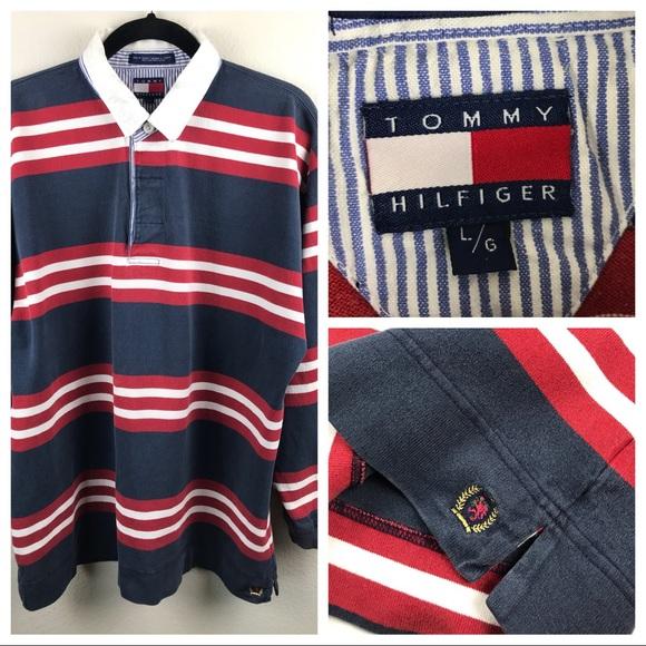 6e7d159a779 Tommy Hilfiger Shirts | Vtg Polo Rugby Crest Shirt Large | Poshmark