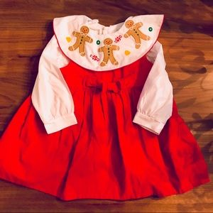 Other - 🎅🏻Red corduroy Christmas pinafore dress 🎅🏻