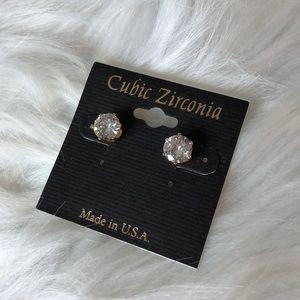 Diamond Earrings Gold Plated