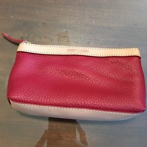 Dooney and Burke Makeup Red Leather Bag