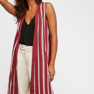 Free People NWT Between The Lines Pinstripe Vest