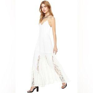 Everdeen White Lace Maxi Dress