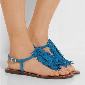 Sam Edelman Shoes - Suede Boho Chic Fringe Sandal