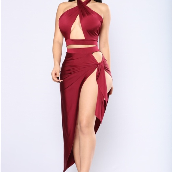 c5886fbb555 Fashion Nova Dresses   Skirts - Egyptian Queen Cut Out Set