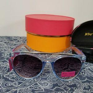 BETSEY JOHNSON *nwt* Blue Sunglasses & Case