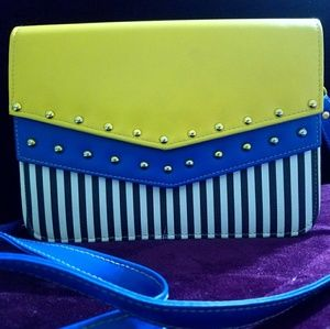 Handbags - Blue and yellow crossbody bag