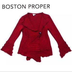 Boston Proper BOHO CHIC Bell Sweater Cardigan