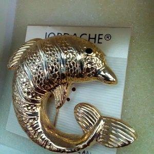 Jewelry - Jordache dolphin brooch