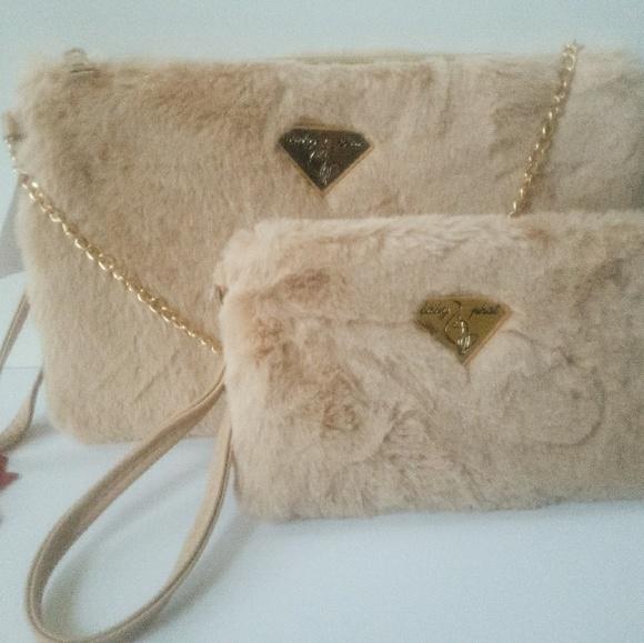 Baby Phat Bags | Furry Crossbody With Matching Wristlet | Poshmark