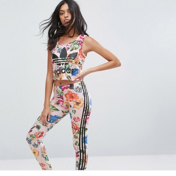 0b865e535bab8 adidas Pants | Originals Farm X Floralita Legging Tights | Poshmark