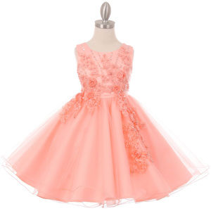 164722d79746 Other - PEACH Arise Flowers Beads Satin Bodice Tulle Skirt