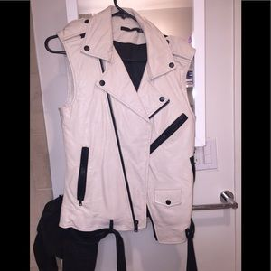 Leather vest!