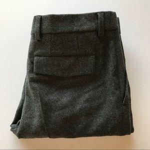 Wool Pleated Slacks slim fit/Gray business