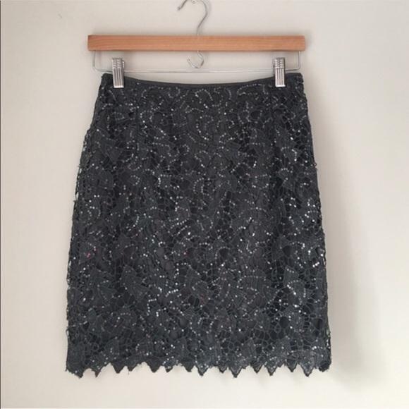 H&M Dresses & Skirts - H&M Black Sparkling Lace Skirt