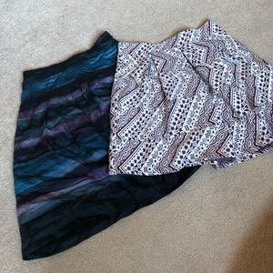 2 winter skirts Ann Taylor Loft