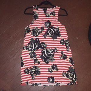 ASTR striped red and white dress