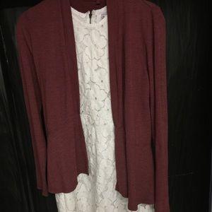 dv by Dolce Vita / Ivory mini dress/ size: small