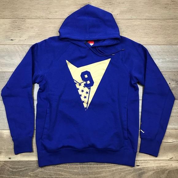 7d39cd799d6 Air Jordan Shirts | 7 Pullover Hoody Royal Blue Gold Fleece | Poshmark