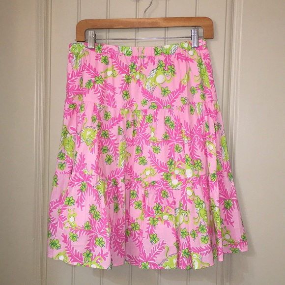 e17993c2db Lilly Pulitzer Dresses & Skirts - LILLY PULITZER Mommy and Me MONKEYS tiered  Skirt S
