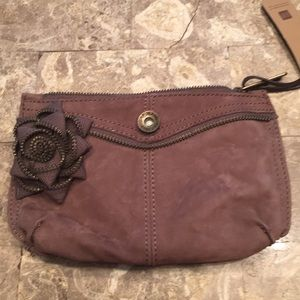 Gap leather clutch