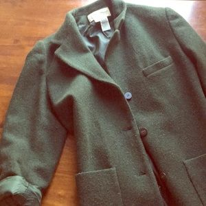 Vintage forest green Eddie Bauer blazer-jacket.
