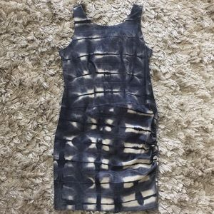 Leather dress Nicolle miller